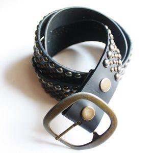 Accessories - Black Dot Brass Belt